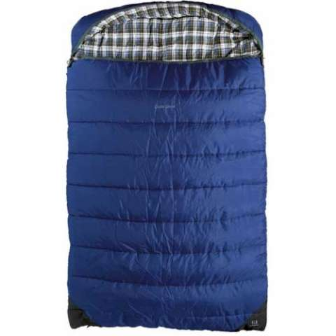 photo: Outbound Double Deluxe 3-season synthetic sleeping bag