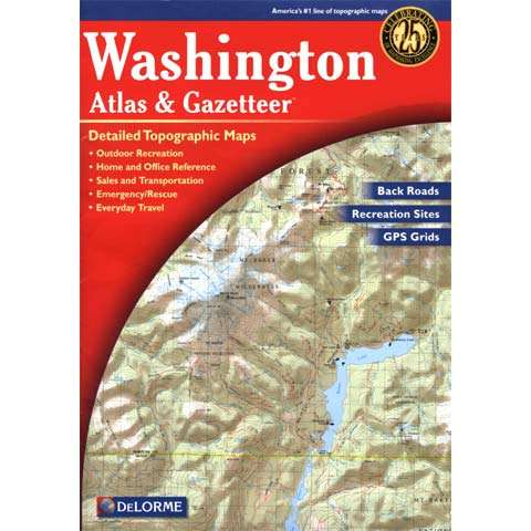 photo: DeLorme Washington Atlas and Gazetteer us pacific states paper map