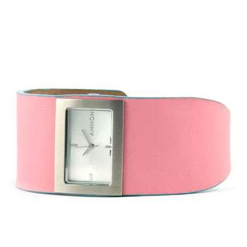 Ammon Mistress Watch Silver/Pink Leather