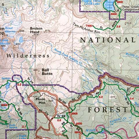 Green Trails Maps Broken Top Oregon Map