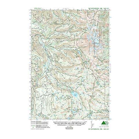 photo: Green Trails Maps Mount Jefferson us pacific states paper map
