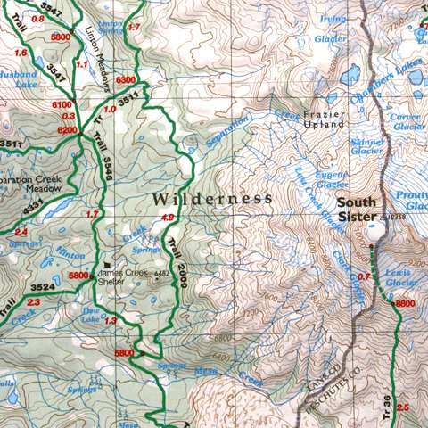 photo: Green Trails Maps Three Sisters Oregon
