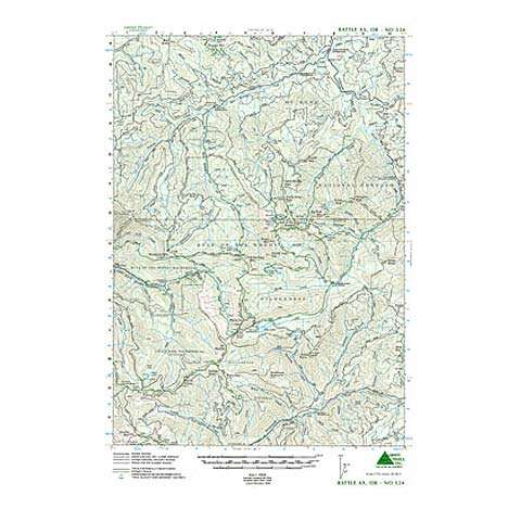 photo: Green Trails Maps Battle Ax Oregon us pacific states paper map