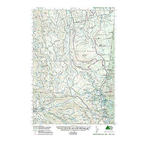 photo: Green Trails Maps Breitenbush Oregon Map