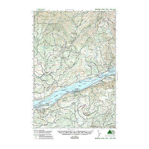 Green Trails Maps Bridal Veil Oregon Map