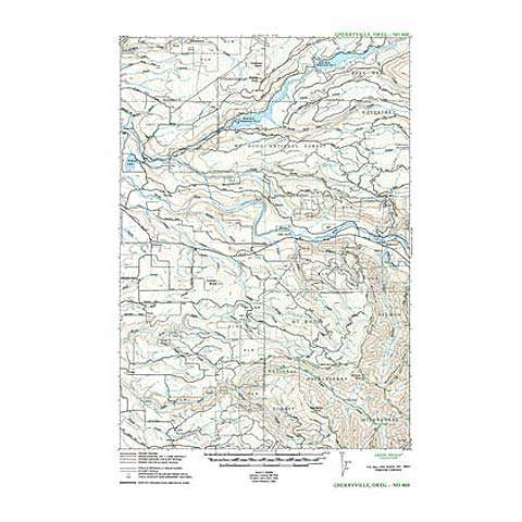 Green Trails Maps Cherryville Oregon Map