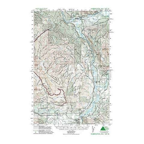 Green Trails Maps Darrington Washington Map
