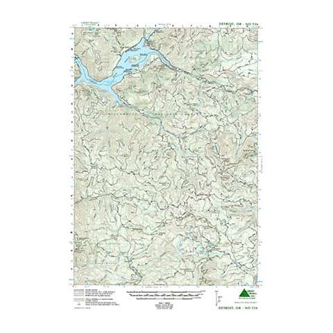 photo: Green Trails Maps Detroit Oregon Map us pacific states paper map