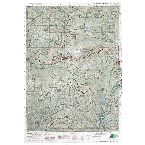 photo: Green Trails Maps Echo Mountain Oregon Map us pacific states paper map