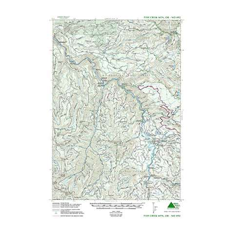 photo: Green Trails Maps Fish Creek Mountain Oregon Map us pacific states paper map