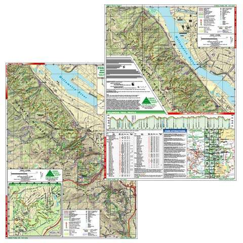 Green Trails Maps Forest Park Oregon Map