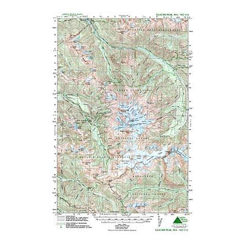 Green Trails Maps Glacier Peak Washington Map