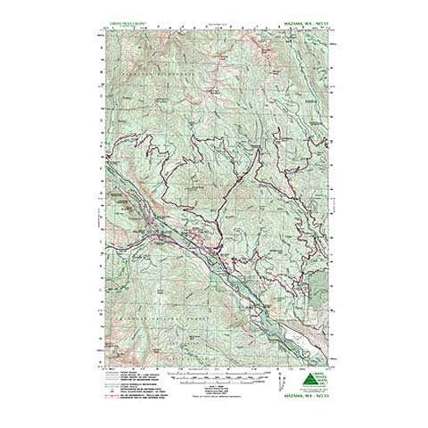 photo: Green Trails Maps Mazama Washington Map us pacific states paper map