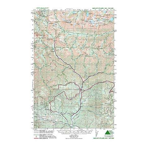 photo: Green Trails Maps Mount Stuart Washington us pacific states paper map