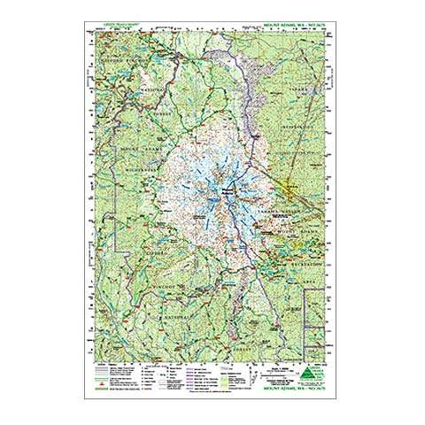 photo: Green Trails Maps Mount Adams Map us pacific states paper map
