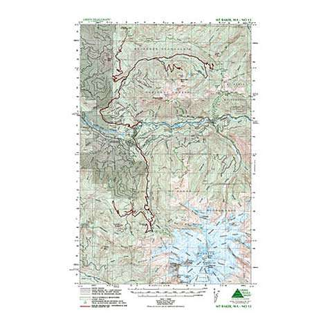 Green Trails Maps Mount Baker Map