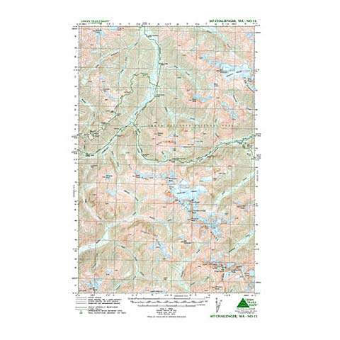 photo: Green Trails Maps Mount Challenger Washington