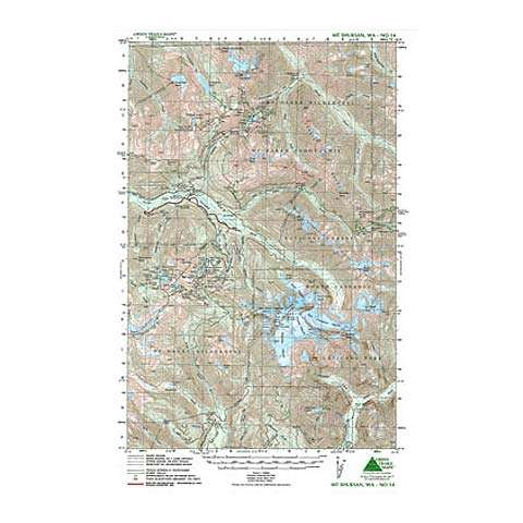 Green Trails Maps Mount Shuksan Washington Map