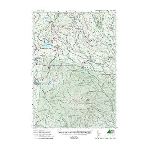 Green Trails Maps Mount Wilson Oregon Map