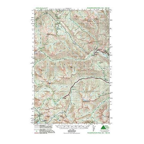Green Trails Maps Washington Pass Map