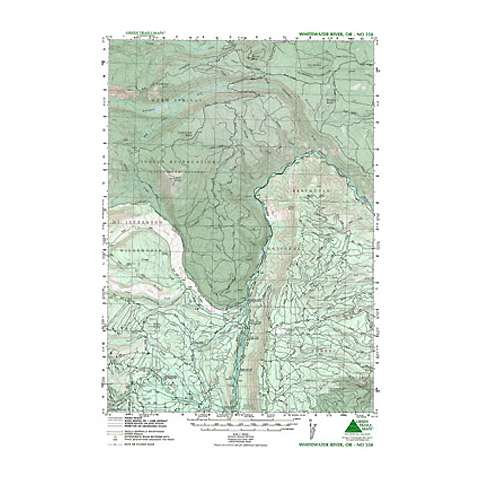 Green Trails Maps Whitewater River Oregon Map
