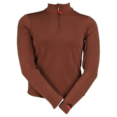 photo: Hot Chillys La Montana Panel Zip-T base layer top