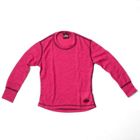 photo: Hot Chillys Kids' Waffle XLS Crewneck base layer top