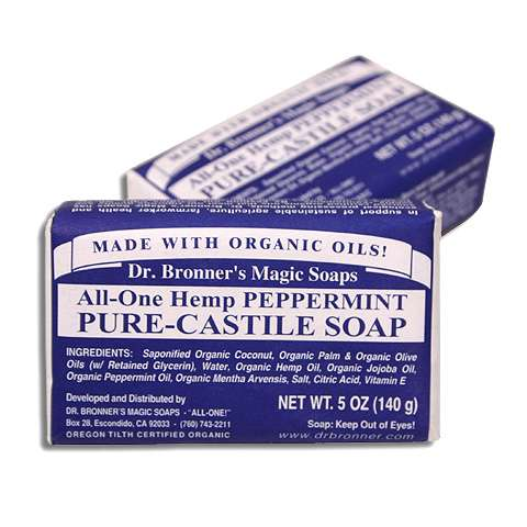 photo: Dr. Bronner Peppermint Organic Bar Soap soap/cleanser