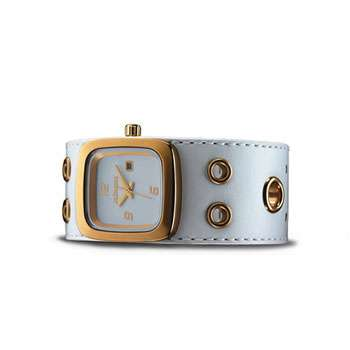 Nixon Mini GTO Luxury Watch - White/Gold