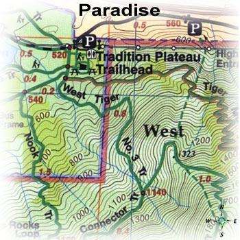 photo: Green Trails Maps Paradise Washington Map us pacific states paper map