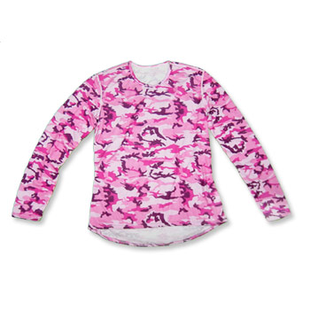 Hot Chillys Printed Crew L/S W