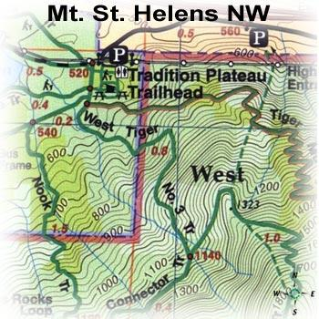 Green Trails Maps Mount Saint Helens Map