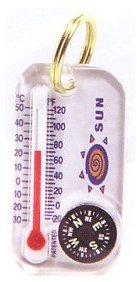 Sun Zipper Snapper 2 Compass/Thermometer Pull